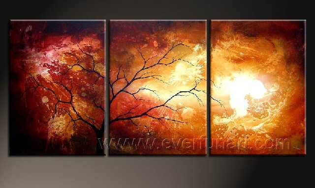 3 Peice Oil Painting 100 Hand Painted On Canvas