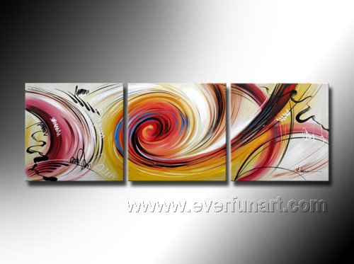 Canvas oil painting modern painitng modern art abstract art for 3 piece paintings